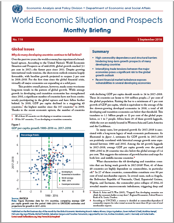 September 2018 Monthly Briefing on the World Economic