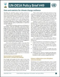 Un Desa Policy Brief 49 Data And Statistics For Climate Change