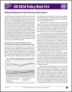 Global development trends at the turn of the century for Policy brief example template