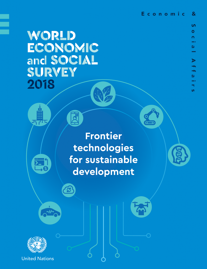 World Economic and Social Survey 2018: Frontier technologies for sustainable development front cover