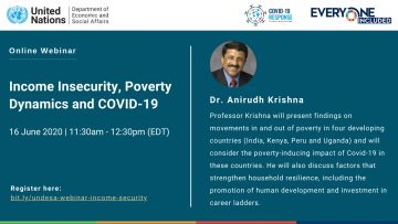 """Webinar on """"Income Insecurity, Poverty Dynamics and COVID-19"""", 16 June 2020"""