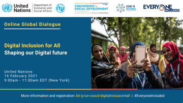 Online Global Dialogue on Digital Inclusion for All