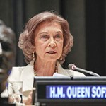 Queen Sofía of Spain speaks at the ceremony where she accepted the 2012 Franklin D. Roosevelt International Disability Rights Award. UN Photo/Paulo Filgueiras
