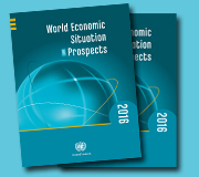 Cover of the World Economic Situation and Prospects 2016 report