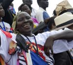 South Sudanese celebrate en masse as their country proclaims independence.