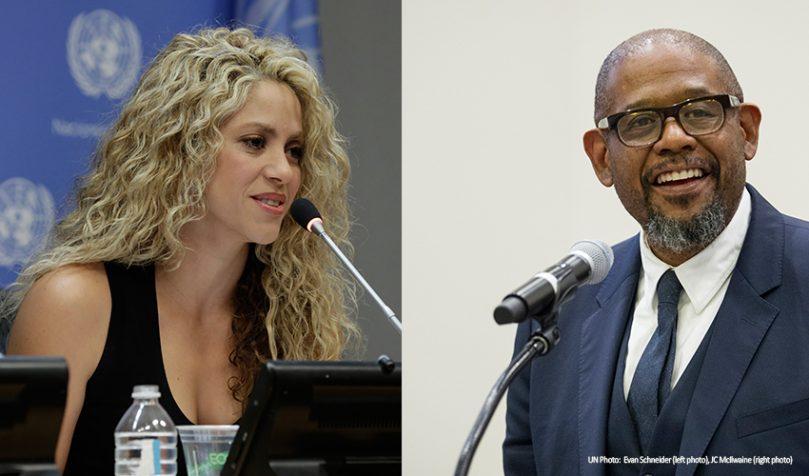 SDG Advocates Forest Whitaker and Shakira to be honored at World Economic Forum in Davos