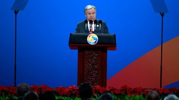 At China's Belt and Road Forum, UN chief Guterres stresses shared development goals