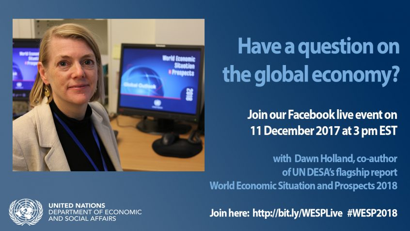 UN's definitive report on the world economy will launch on Monday