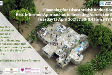 Disaster risk reduction and financing and development cooperation