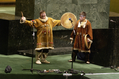 Indigenous Peoples presenting their cultural traditions in the United Nations
