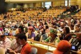 Indigenous Peoples taking part in a General Assembly meeting.