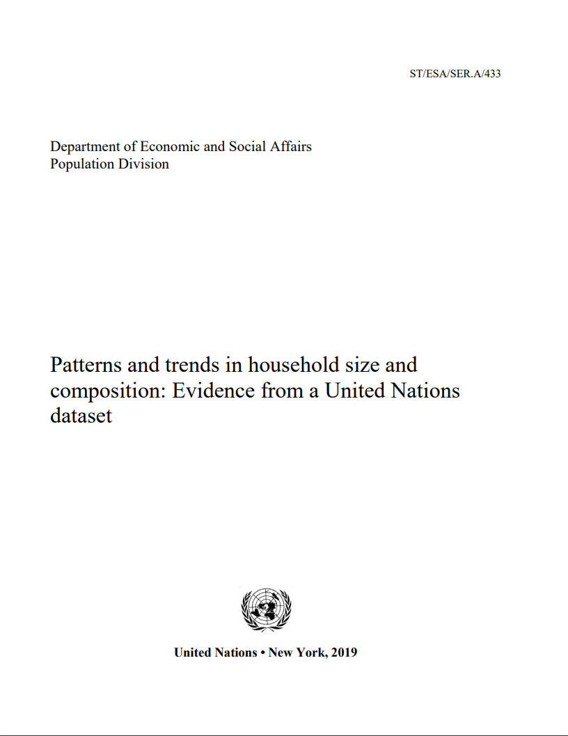 Patterns and trends in household size and composition Cover
