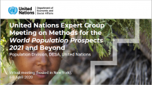 """Expert Group Meeting on """"Methods for the World Population Prospects 2021 and beyond"""""""
