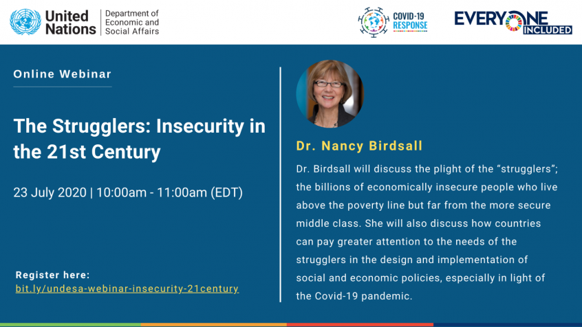 "Webinar ""The Strugglers: Insecurity in the 21st Century"""