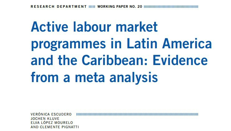 Active Labour Market Programmes in Latin America and the