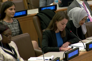 Youth delegates share views on key development issues with UNGA Third Committee