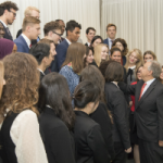 Secretary General Antonio Guterres with Youth Delegates attending the Seventy-second Session of the General Assembly.