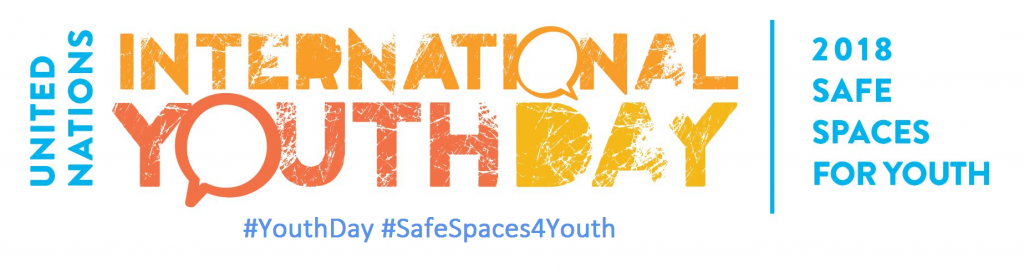 youth day 2018 logo - safe spaces