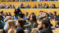 """UN75 Dialogue with the Secretary-General """"Youth in the Driving Seat"""" A view of the audience in a UN75 Dialogue with Secretary-General António Guterres and youth on the theme """"Youth in the Driving Seat"""". 29 January 2020 United Nations, New York Photo # 837135"""