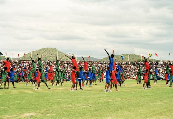 Namibians celebrate first day of independence in 1990