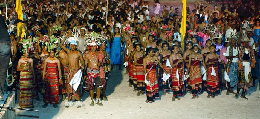 Independence celebration in Timor-Leste in 2002