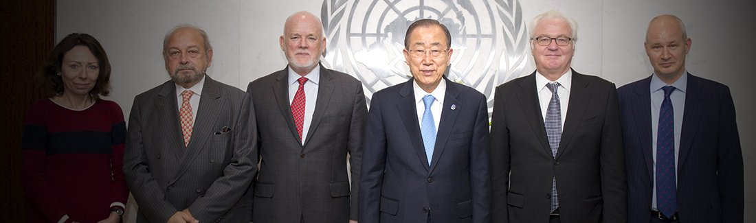 UN SG Ban Ki-moon hosted a luncheon in honour of the presidents of the principal organs of the United Nations on 25 October 2016: In the group photo, in the left, H.E. Ms. Marie Chatardovfi, Vice-President of ECOSOC