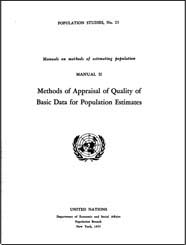 Methods of appraisal of quality of basic data for population estimates