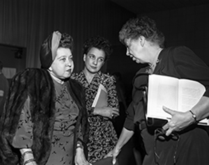 Eleanor Roosevelt and Minerva Bernadino