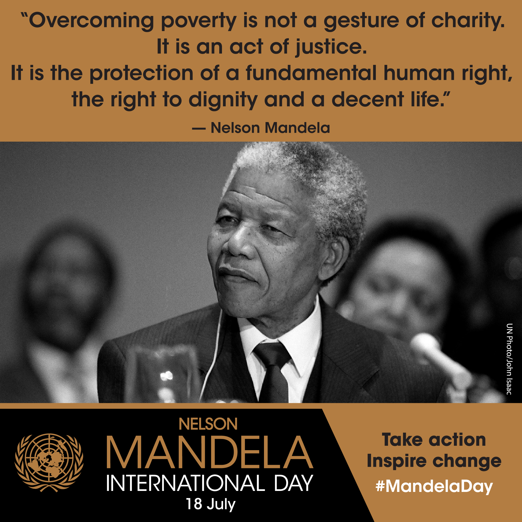 Nelson Mandela BRAND NEW poster South Africa Civil Rights Equality Freedom Quote