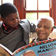 Mr. Mandela and his great grandson Ziyanda Manaway, taken on the occasion of the publication of the Children's Version of Long Walk to Freedom, 2009