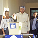Nelson Mandela, President of the African National Congress (ANC), casting the ballot in his country's first all-race elections, at Ohlange High School near Durban.