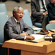 Nelson Mandela, President of the African National Congress (ANC), addresses the Security Council.