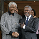 Secretary-General Kofi Annan (right) meets with former South African President Nelson Mandela in Houghton, Johannesburg, South Africa. 15 March 2006