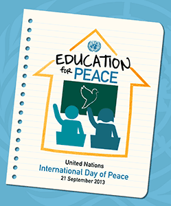 Poster for International Peace Day 2013