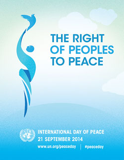 Peace Day 2014 poster