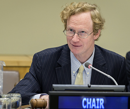 The  Chair of the COI addresses the third meeting of the 40th session of the Committee