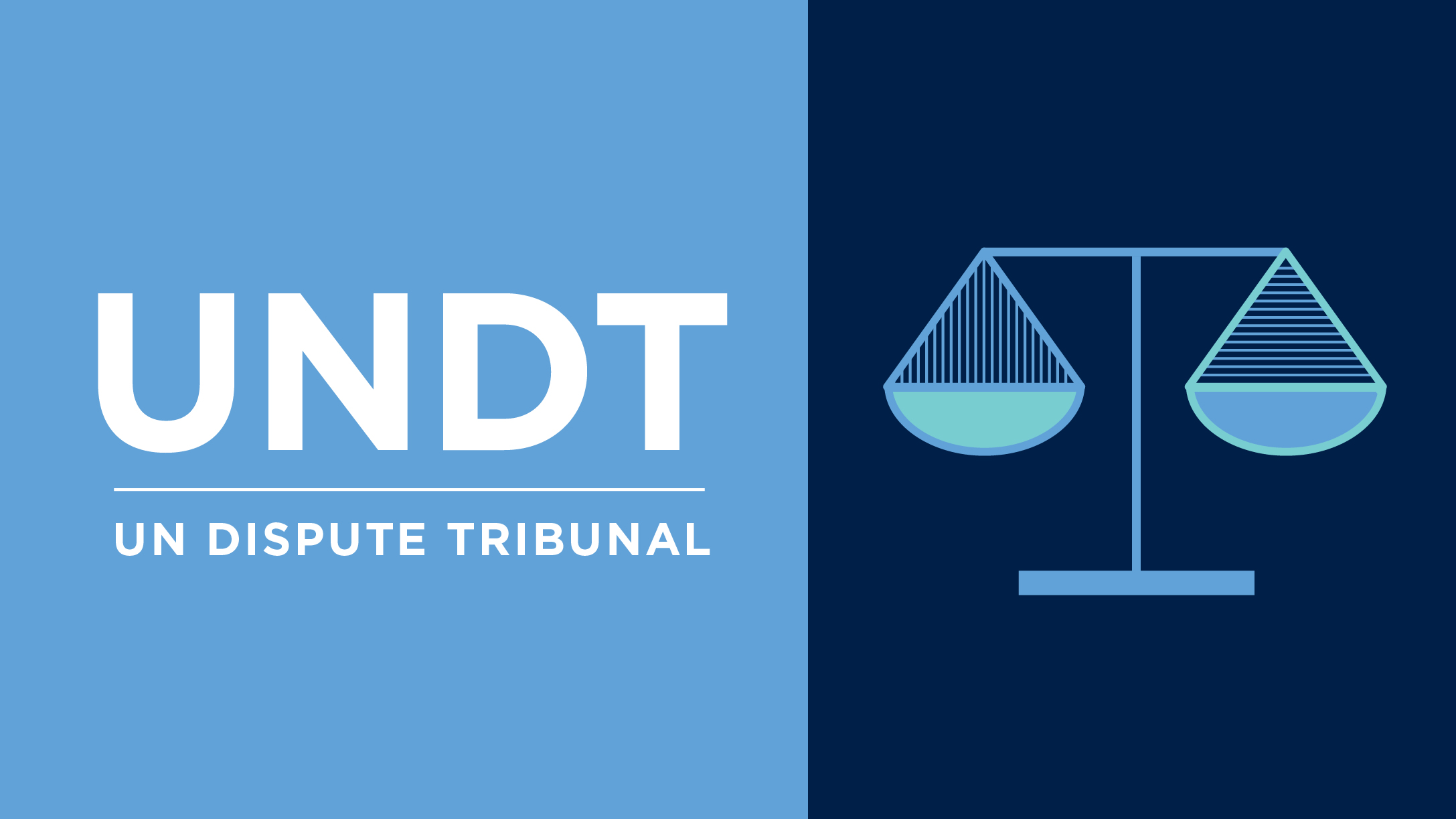 Graphic Of Illustration Scales Justice With Text That Reads UNDT