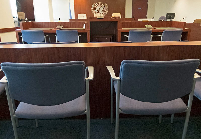 Photo of UNDT Courtroom in New York.