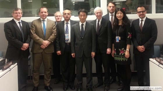 1540 Committee Chair, Ambassador Oh Joon, and experts supporting the work of the 1540 Committee, 8 November 2013, New York.