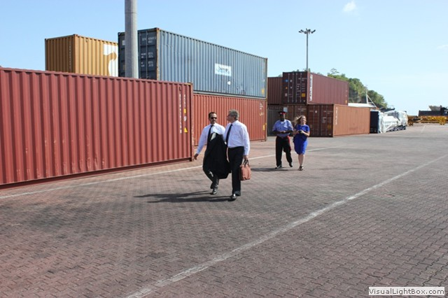 1540 Committee delegation visits the Port of St. George's, in the in the framework of the 1540 visit to Grenada, at the invitation of its Government, 29-31 July 2013