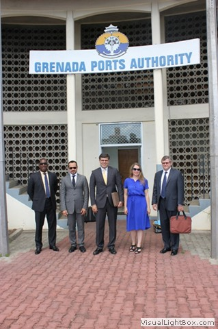 1540 Committee delegation visits the Grenada's Port Authority, in the in the framework of the 1540 visit to Grenada, at the invitation of its Government, 29-31 July 2013