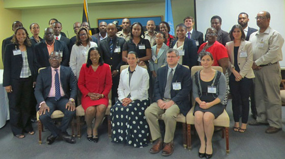 Photo of Government of Jamaica 1540 Roundtable, Kingston, Jamaica, 5 December 2014.