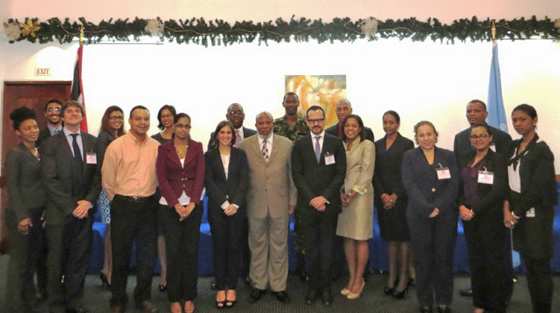 Participants photograph of the National Roundtable on the implementation of Security Council Resolution 1540 (2004),  held in Port of Spain, Trinidad and Tobago, from 13 to 14 October 2014 organized by the Government of Trinidad and Tobago and UNLiREC.