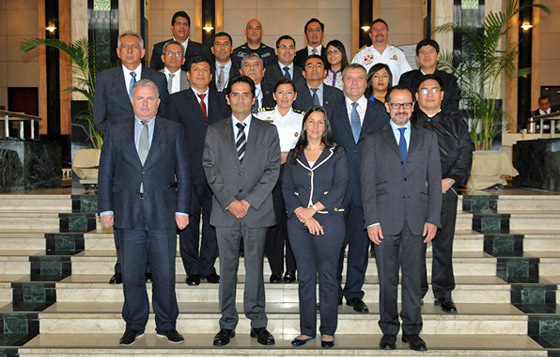 Photo of Participants at the national roundtable on the implementation of resolution 1540 (2004) organised by the Government of Peru in cooperation with the UN Office for Disarmament Affairs, 14 November 2014, Lima, Peru.