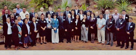 Photo of the Sub-regional National Capacity Evaluation and Training Workshop for Personnel of National Authorities of State Parties from Pacific Island States involved in the National Implementation of the Chemical Weapons Conventions, Brisbane, Australia, 20-24 May 2014.