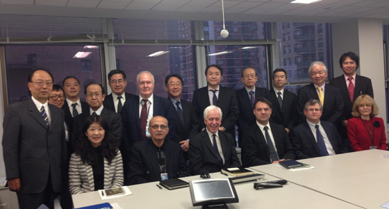 Photo of meeting of the Tokyo based Center for Information on Security Trade Controls (CISTEC) and associated member companies with the 1540 group of experts, New York, 15 January 2014.