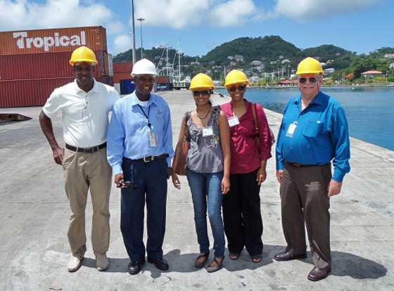 Photo of visit by a South African delegation to Grenada in response to the assistance request by the Government of Grenada submitted to the 1540 Committee, St. George's, Grenada, 23 July 2014.