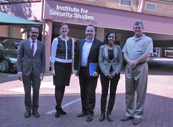 Photo of Meeting of the 1540 Experts with the researchers of the 'Africa Development and the Threat of Weapons of Mass Destruction Project' at the Institute for Security Studies, Pretoria, South Africa, 12 August 2014.