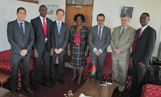 Photo of Meeting with the Principal Secretary of the Ministry of Defence, Ms Lonely Magreta, during the visit of the 1540 Committee to Malawi, at the invitation of its Government, 8 August 2014.