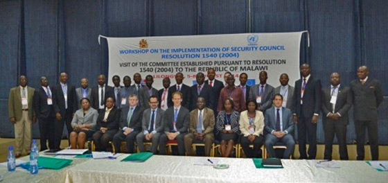 Photo of Participants in the 1540 Committee Workshop, held from 6-7 August 2014, in Lilongwe, during the visit of the 1540 Committee to Malawi, at the invitation of its Government.